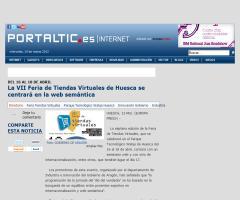 La VII Feria de Tiendas Virtuales de Huesca se centrará en la web semántica