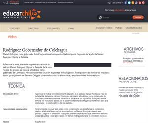 Rodríguez Gobernador de Colchagua (Educarchile)
