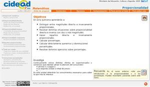 Proporcionalidad 2º ESO (Cidead)