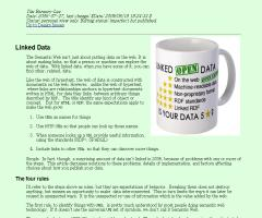Web Design Note about Linked Data - Tim Berners-Lee