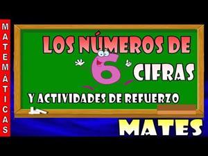 Los números de 6 cifras y actividades de refuerzo
