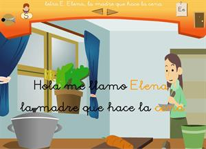 """Letra """"e"""". Elena, la madre que hace la cena. Proyecto Medusa"""