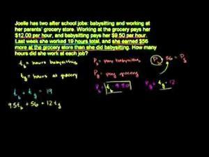 Sistemas y problemas de tasas 2 (Khan Academy Español)