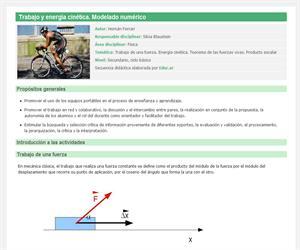 Trabajo y energía cinética. Modelado numérico
