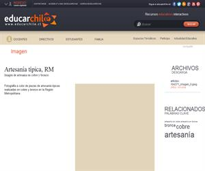 Artesanía típica, RM (Educarchile)