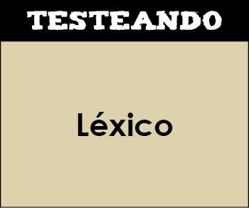 Léxico. 2º ESO - Lengua (Testeando)