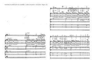 Examen de Selectividad: Historia de la música y la danza (partitura 2). Andalucía. Convocatoria Junio 2013