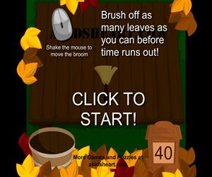 Leaf Sweeping Game (akidsheart.com)