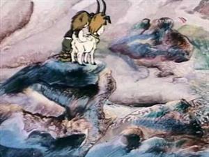 Los enanos y el rey de la montaña. Corto con música de Grieg (Peer Gynt)
