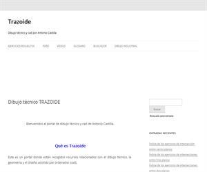 TRAZOIDE. Portal de dibujo técnico, ejercicios resueltos a todos los niveles.