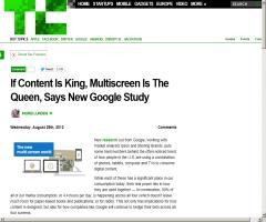 Si el contenido es el rey, la disponibilidad en diferentes tipos de pantallas es la reina (Google SEO)