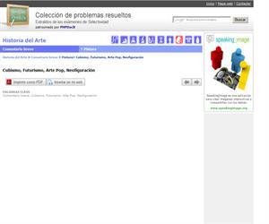Cubismo, Futurismo, Arte Pop, Neofiguración. (Selectividad.tv)