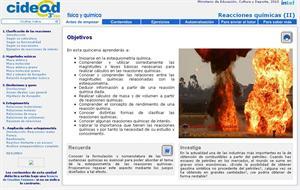Reacciones químicas II (cidead)