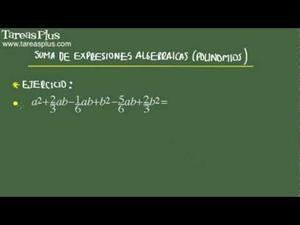 Suma de expresiones algebraicas problema 5 de 15 (Tareas Plus)