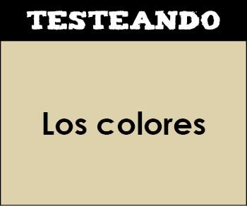 Los colores. 1º Primaria - Inglés (Testeando)