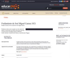 Fusilamiento de José Miguel Carrera 1821 (Educarchile)