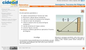 Semejanza. Teorema de Pitágoras (cidead)