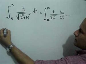 Integral definida usando el Método de Sustitución (JulioProfe)