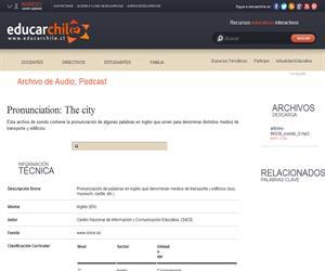 Pronunciation: The city (Educarchile)