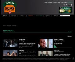 Finalistas del concurso de cortometrajes jamesonnotodofilmfest