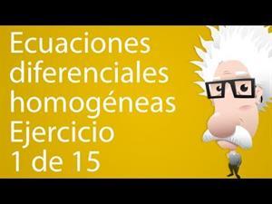 Ecuaciones diferenciales homogéneas. Ejercicio 1 de 15 (Tareas Plus)