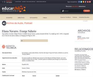Eliana Navarro. Exurge Salterio (Educarchile)