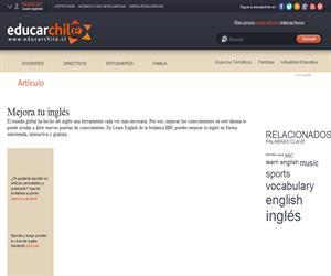 Mejora tu inglés (Educarchile)