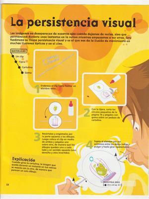 Experimentos sencillos para Niños: Persistencia Visual