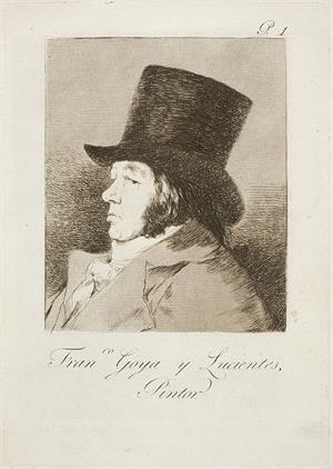 Autorretrato. Francisco Goya y Lucientes, pintor (serie Caprichos, 1)