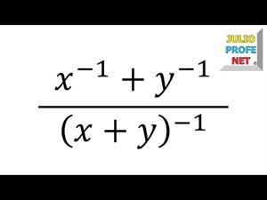 Simplificación de una Fracción Compleja con exponentes negativos (JulioProfe)