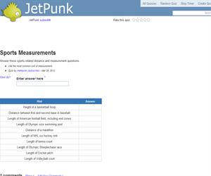 Sports Measurements