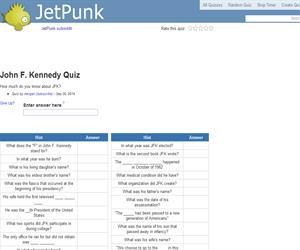 John F. Kennedy Quiz