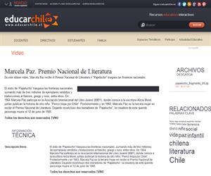 Marcela Paz. Premio Nacional de Literatura (Educarchile)