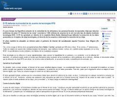 El Parlamenteo Europeo defiende la privacidad de los usuarios de tecnologías RFID (Nota de prensa)