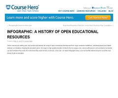 Infographic: a history of open educational resources