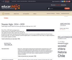 Nuestro Siglo. 1914 - 1929 (Educarchile)