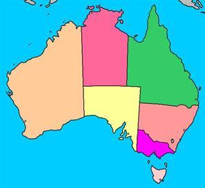 Mapa interactivo de Australia: estados y capitales (luventicus.org)
