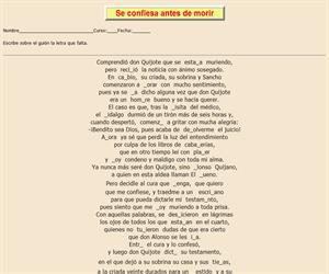 116ª Ficha de ortografía de Don Quijote de la Mancha