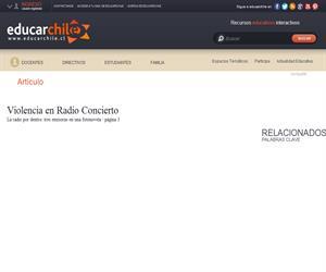 Violencia en Radio Concierto (Educarchile)