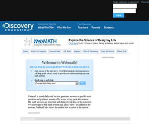 WebMath, resuelve en 'tiempo real' tus dudas matemáticas (Solve Your Math Problem)