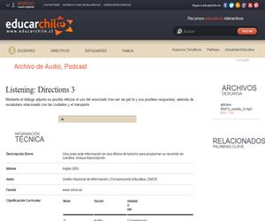 Listening: Directions 3 (Educarchile)