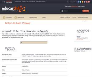 Armando Uribe. Tres historietas de Neruda (Educarchile)
