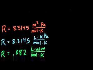 Ecuación general de los gases - Ejemplo 1 (Khan Academy Español)