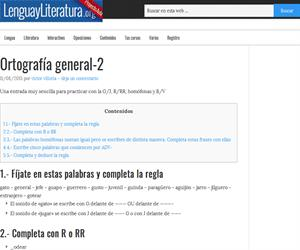 Ortografía general: G/J, R/RR, homófonas y B/V