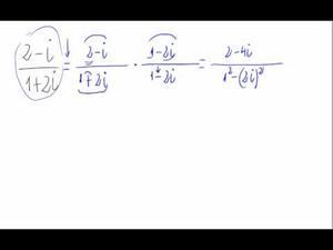 División de números complejos (forma binómica)