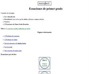 Resolución de ecuaciones de primer grado (EnclicloAbierta)