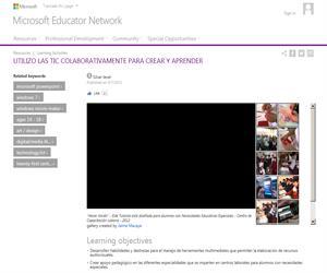 Utilizo las TIC colaborativamente para crear y aprender