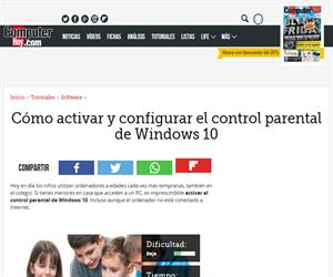 Cómo activar y configurar el control parental de Windows 10 (ComputerHoy.com)