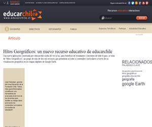 Hitos Geográficos: un nuevo recurso educativo de educarchile (Educarchile)
