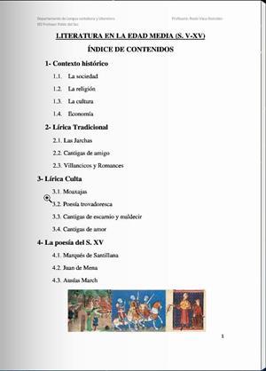 Literatura en la Edad Media (siglos V al XV)